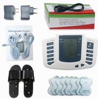 Stimulateur électrique Full Body Relax Muscle Digital Massager Pulse TENS Acupuncture avec Thérapie Pantoufle 16 Pcs Électrode Pads