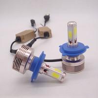 2x H1 H4 H7 H11 9005 9006 9007 COB LED bulbo de la linterna del kit 400W 40000LM niebla del coche de la lámpara de luz blanca de 6000K