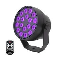 자외선 LED 파 무대 빛 18x3W 자외선 블랙 조명 DMX 512 IR 리모컨 사운드 파티 램프 클럽 디스코