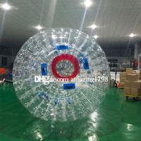 شحن مجاني واحد مضخة 2.5 متر خارج 1.5 متر داخل الجسم نفخ zorb الكرة ، كرة الماء zorb ، العشب zorb الكرة للبيع