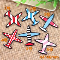 DIY acrylic paster airplane helicoper charms plane graffiti ...