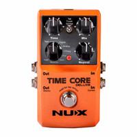 Новый NUX модернизированный Time Core Deluxe Delay гитарные эффекты педаль 7 эффекты задержки 40 секунд loop time tone Lock задержка педаль гитары