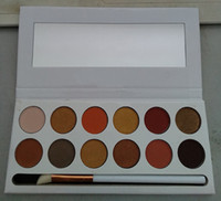 Newest ky nice pressed powder eyeshadow 12 colors palette wi...
