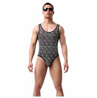 KWAN. Z male belly slimming underwear leopard corset body sha...