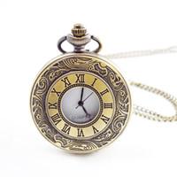commercio all'ingrosso 100 pz / lotto mix 4 colori classico orologio da tasca romano vintage orologio da tasca uomo donna modelli antichi Tuo orologio da tavolo PW012