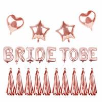 LAPHIL Rose Gold Bride To Be Banner Foil Globos Ducha nupcial Photo Booth Atrezzo Decoración de la boda Despedida de soltera Favores