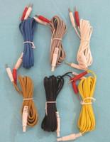 5PCS Hwato SDZ-II 전자 침술 장비 출력 리드선 전기 침술 장치 악어는 케이블 5 색상 클립