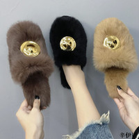 New Sweet Women' s Furry Slippers Ladies Cute Plush Soft...