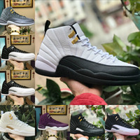 2018 High Quality 12s OVO White Gym Red Dark Grey Basketball...