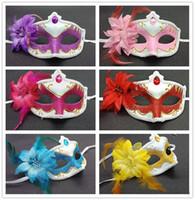 Halloween masks WOMENS Lace eye mask gorgeous masquerade mask party flower Venetian Half face queen princess mask