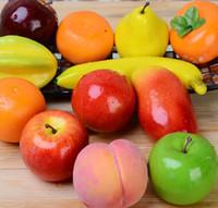 Schiuma di frutta artificiale Frutta finta Mela Leamon Peach Orange Plastica artificiale di plastica per la decorazione domestica Accessori Fotografia Puntelli
