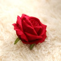 flannel rose head artificial flowers wedding home decoration...