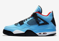 2018 New #23 Jumpman 4 IV Travis x Houston University Blue B...