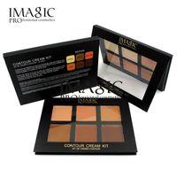 IMAGIC Concealer Creme Contour Palette Kit Pro Makeup Palatte 6 Farben Concealer Gesicht Primer Net 30g mit 3 verschiedenen Farbstil