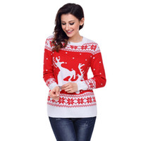 Designer Sweater Christmas Knitted Pullovers Vintage Women C...