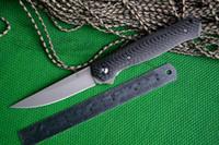 """Yeni Katlama Bıçak TIGEND Marka 1067 Karbon fiber kolu 3.54 """"Survival için D2 blade Cep Avcılık bıçaklar Açık"""
