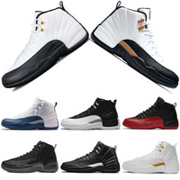 Designer Mens 12s CNY Zapatillas de baloncesto Taxi Black White The Master Flu Game Gamma French Blue Playoffs Zapatillas de deporte Zapatillas de deporte Talla 41-47