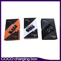 Mais novo COCO FUMAR de Vapor de Carga PCC Box 1200 mAh Bateria Vape Pen Starter Kit Para V2 V3 Pod Cartucho 0268099-1