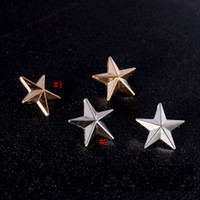 Vintage Silver Gold Star Брошь Pin для женщин мужчин костюм Рубашка Одежда Рюкзак Hat Pin отворотом Малый размер ретро Borach Унисекс Breastpin Знак
