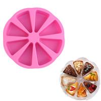 سيليكون العفن جزء سكون DIY أدوات تزيين الكعكة نموذج 8 Kongjiezi شكل بيتزا صينية