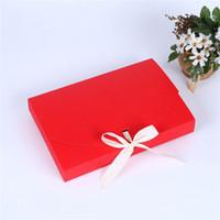 26x17.5x3.5cm Grand cadeau Boîte de cadeau Sous-vêtements Boîte d'emballage Cosmétique Bouteille Écharpe Emballage Emballage Papier couleur Boîte avec ruban