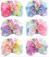 12Styles Jojo Siwa Hair Bow With Clips Papercard Metal Logo ...