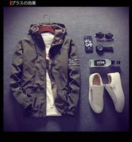Marca Designer Primavera Outono Dos Homens Fino Exército Verde Jaqueta Com Capuz Slim Fit Yong Men Menino Casaco Jaqueta Blusão Estudante 8 Cor 5xl