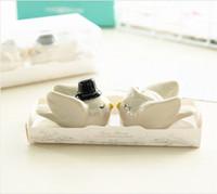 結婚式の鳥の塩とコショウのシェーカーパーソナリティ花嫁の新郎調味料の調味料ポット3 8zl GGKK