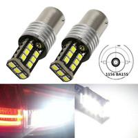20PCS T20 1156 1157 P21w 2835 15SMD 자동차 LED 전구 없음 오류 역 CANBUS 전구 자동차 LED 백업 램프 전구를 반전