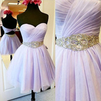 2019 Free Shipping Newest Sweetheart Neck Tulle Homecoming D...