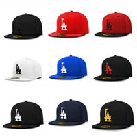 Hip Hop Buchstabe Stickerei la Snapbacks Einstellbare Herren Snapback Hut Street Dancing Skateboard Baseball Cap Drop Shipping