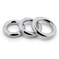 Aço inoxidável fechadura fina anel ímã de sucção do pénis anel anel de peso anel masculino equipamento adulto suprimentos brinquedos sexuais