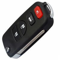 Custodia a conchiglia chiave a distanza a 4 pulsanti Custodia pieghevole pieghevole per auto INFINITI G35 I35 350Z Nissan Sentra Altima Maxima dal 2002 al 2006