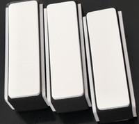 50 stücke Retail Schwarz Weiß 4 Wege Nail art Puffer Datei Nail art Tools DIY Nagelblock Datei Schleifen Werkzeuge Maniküre