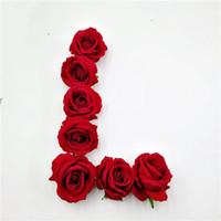 30 teile / los seide große rose künstliche blumen köpfe für hochzeitsdekoration diy scrapbooking kranz hause gefälschte blume 6 farben