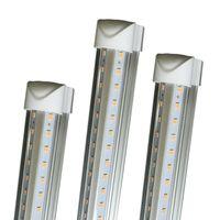 8 قدم أضواء led 8ft الصمام أنبوب ضوء الخامس الشكل T8 التكامل عالية السطوع 2ft 3ft 3ft 5ft 6ft 52 واط 56 واط 8ft ضوء النهار 4000-4500K