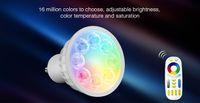 مي ضوء AC85V-265V 4W GU10 RGB + CCT LED عكس الضوء 2.4G اللاسلكية واي فاي عن بعد LED لمبة بقيادة مصباح الأضواء الذكية أضواء مصباح