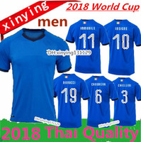 new 2018 ITALY WORLD CUP home soccer Jersey away 18 19 ITALY CANDREVA  CHIELLINI EL SHAARAWY BONUCCI INSIGNE BERNARDESCHI FOOTBALL SHIRTS 6e0518a6f
