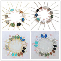 Hot Popular Druzy Drusy Earrings Necklace Various 10 Colors ...