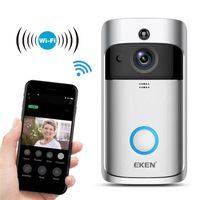 EKEN فيديو الجرس 2 720P HD واي فاي الأمن الرئيسية كاميرا لاسلكية ذكية الجرس في الوقت الحقيقي الأشعة تحت الحمراء للرؤية الليلية التطبيق التحكم