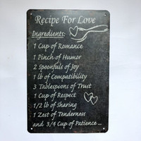 Recipe For Love Vintage Rustic Home Decor Bar Pub Hotel Rest...