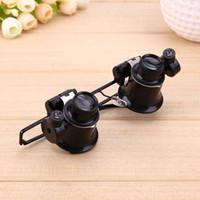 20X szklane okulary szklane Magnifier z mikroskopem LED Light do Zegarek Clock Jewellery Naprawa narzędzia Regulowany kąt światła