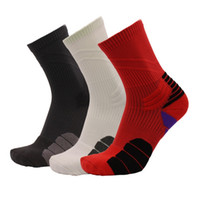 Men Women Professional Elite Basketball Socks Breathable Tow...