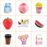 Sample Squishy Toys Hamster Peach Popcorn Strawberry Unicorn...