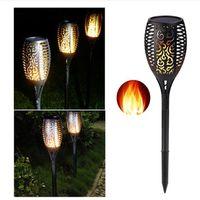 새로운 96 LED 태양 화염 점멸 잔디 램프 토치 라이트 LED 댄스의 불꽃 조명 방수 야외 홈 정원 조경 장식 램프