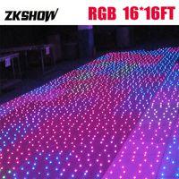 80% Rabatt 16 * 16ft RGB drahtlose funkelnde LED Tanzfläche Hochzeit Bühnentechnik-Projektor DJ-Disco-Partei-Licht-freies Verschiffen Flight