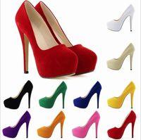 2018 Moda scarpe di lusso scarpe a punta tacco alto designer 10 colori sexy bocca superficiale suola 14cm scarpe col tacco alto donne abito da sposa