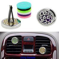 Aromatherapy Car Vent Diffuseur d'huiles essentielles pour clip de voiture pince avec 5PCS coussinets en feutre lavables livraison gratuite