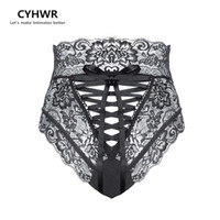 CYHWR Moda Seksi Külot kadın Bandaj Külot Dikişsiz Yüksek Bel Dantel Kadın Underwears Külot Oymak