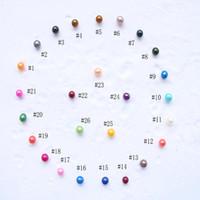 Großhandel 2018 Lose Pearl Great Grade 6-7mm runde Form Perle 27 Farbe für Schmucksachen, die Korn-Qualitäts-Rohstoff Schöne Geschenke
